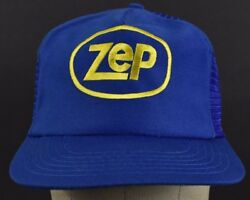Blue Zep Commercial Company Logo Embroidered Trucker Hat Cap Adjustable Snapback