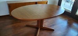 Fashioned After Neils Moller Mid Century Teak Oval Dining Table Great Condition