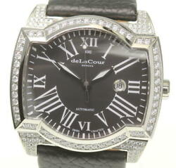 Delacour Cherry Blossom Limited Edition 222 After Zirconia Date Automatic Mens
