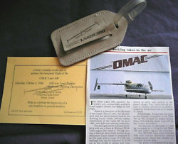 Omac Canard Turboprop Old Man Aircraft Co Laser 300 Luggage Tag 1988 Aby Flight