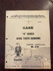 Vintage Case R Series Spike Tooth Harrow Part Catalog A761 - 11/1958