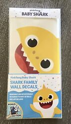 Babay Shark Family Removable And Repositionable Wall Decals NIB
