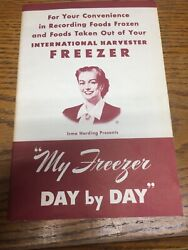 Vintage 50s International Harvester My Freezer Day By Day Food Record Book Blank