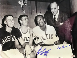 Bill Russell And Red Auerbach Autographed 16x20 Basketball Photo