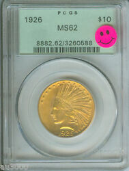 1926 10 Indian Eagle Pcgs Ms62 Ms-62 Old Geern Holder Ogh Premium Quality Pq +