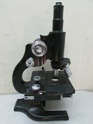 Vintage Lab Microscope Ao Spencer American Optical Look Scientific Instrument