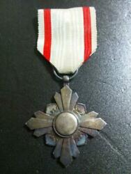 Ww2 Former Japanese Army Manchurian Medal Junk Free Shipping From Japan M3060