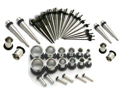 16g-00g Plus 1g And 9mm Steel Ear Stretching Kit Tunnels Tapers Gauges Instruction