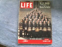 Life Magazine The Us Masons A Pictorial Essay In Color October 8, 1956