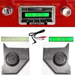 1964-1966 Ford Mustang Radio W/ Free Aux Cable 230 Stereo + Kick Panels Hardtop