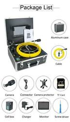 Dvr Pipe Inspection Video Camera 50m 9 Inch Dual Len Drain Sewer Endoscope