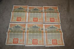 Lot 6 Chinese Government Reorganization Andpound20 5 Gold Loan Of 1913 Bond China