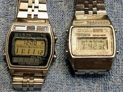 Vintage Lot Of 2 Seiko Quartz Lcd Digital Watches A159-5009 G And A258-5000 A2