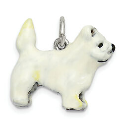 Sterling Silver Enameled West Highland Terrier Charm QC6423