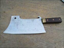 Finest Antique Italian Chef's Brass-bolstered Meat Cleaver/butcher Knife - Wow