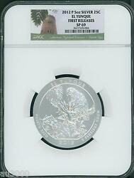 2012-p El Yunque Np America Beautiful Atb 5 Oz Silver Ngc Sp69 First Releases Fr