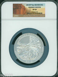 2010-p Grand Canyon Park Atb America The Beautiful 5 Oz. Silver Ngc Sp69 Sp-69