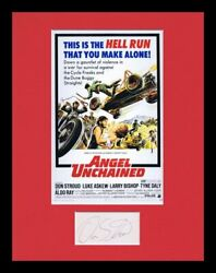 Don Stroud Signed Framed 11x14 Angel Unchained Poster Display