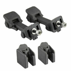 Pair Front Hood Latch Catch And Bracket For Jeep Wrangler Jk 2007-18 Free Shipping
