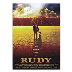 Rudy Movie Poster Full Size - Autographed By Rudy