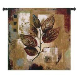 35x35 Modernist Autumn Fall Leaves Tapestry Wall Hanging