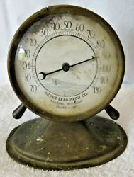 Vintage Silver Lead Company Dashboard Thermometer Accessory Fast Shipping