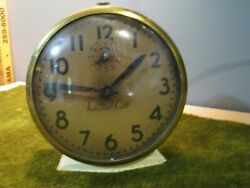 Vintage Ingraham Alarm Clock Cream Tone Not Running To Fix Or For Parts-4wide