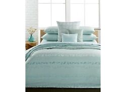 New Calvin Klein Nightingale Sea Mist 7pc King Duvet Cover Set W/ Shams And Sheets