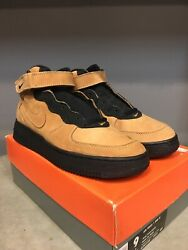 Ds Nike Air Force Af1 Wheat Flax Mid Vintage Rare 7 9 Max Laser 95 94 96 1995