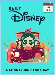 Digital Card Topps Daily Disney Collect July 21 National Junk Food Day Digital