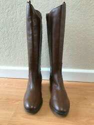 Sam Edelman Brown Leather Equestrian Style WOMEN#x27;s Boots Size 10 M $79.00