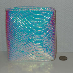 Ulta Beauty Holographic Iridescent Scale Cosmetic Travel Makeup Bag Pouch Case $7.98