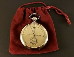 Antique Manand039s Flyback Swiss Pocket Watch 15 Jewels 16 Size S/n 27838 Ca.1895