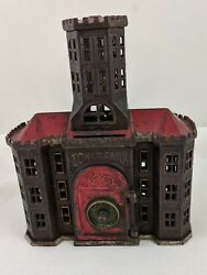 1890-1891 Tower Iron Still Bank W/ Dial Made By Kyser And Rex Of Frankford Pa.