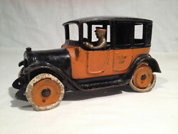 Arcade Cast Iron Yellow Cab, Large 9 Inch Long Version, Gorgeous