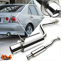 For 01-05 Is300 Altezza Xe10 4 Tip Muffler Performance Catback Exhaust System