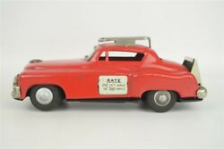 Tin Friction Red Taxi Toy Car Hadson Japan Vintage Unusual Coupe 6.25
