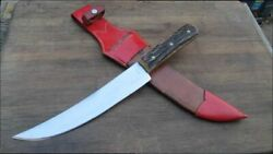 Finest Vintage Pic Germany Big Game Carbon Steel Hunting Knife W/stag Very Rare