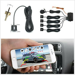 Wireless Wifi Car Rear View Night Vision Camera With 4pc Reverse Parking Sensors