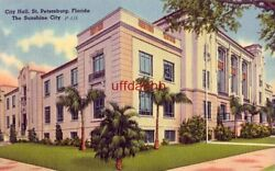 CITY HALL ST. PETERSBURG FL The Sunshine City 1957