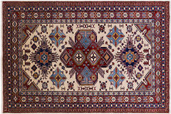 5and039 10 X 8and039 7 Super Kazak Hand-knotted Rug - Q4852