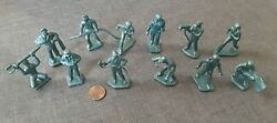 Cat Marx Lot Of 12 Vintage 1960's Cape Canaveral Play Set Figures