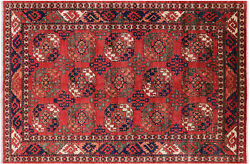 Fine Turkmen Hand-knotted Wool Rug 6and039 4 X 9and039 6 - Q5757