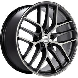 4 Staggered 19x8 / 19x9.5 Bbs Ccr Gray Machined 5x112 +44/+42 Wheels Rims