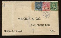 Guam Scott 125 Rare Cover Violet Oval Of Dots And Star W/matching Marianas Ccl