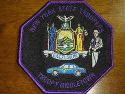 New York State Police Troop F Middletown Headquarters State Trooper Patch
