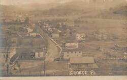 Grover, Bradford County, Pa, Town, Street, Stores Church Overview Rppc Used 1909