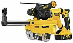 Dewalt Dch263r2dhr 1-1/8-in 20v Max Sds Plus Rotary Hammer Kit W/dust Extractor