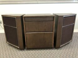 Mid Century Modern Record Player Cabinet And Speaker Vintage Radio 60s Ge Console