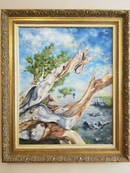 Original Oil Painting 23 1/2 X 30 In. Frame Included. Nature.
